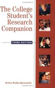 The college student's research companion by Arlene Rodda Quaratiello