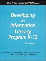 Cover of: Developing an Information Literacy Curriculum | Iowa) Iowa City Community School District (Iowa City