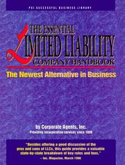 Cover of: The Essential Limited Liability Company Handbook