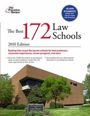 Cover of: The Best 172 Law Schools