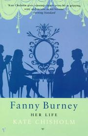 Cover of: FANNY BURNEY  | KATE CHISHOLM