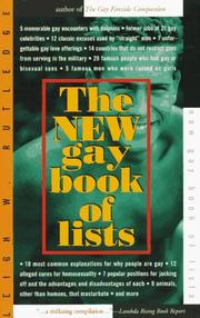 Cover of: The new gay book of lists | Leigh W. Rutledge