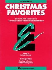 Cover of: Essential Elements Christmas Favorites  Eb Alto Clarinet