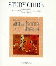 Cover of: Study Guide To Accompany Carson Butcher Mineka Abnormal Psychology And Modern Life Tenth Ed