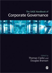 Cover of: The Sage Handbook Of Corporate Governance