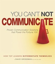 Cover of: You Cant Not Communicate