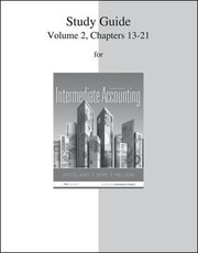 Cover of: Intermediate Accounting Volume 2 Chapters 1321
