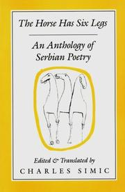 Cover of: Horse Has Six Legs: Contemporary Serbian Poetry
