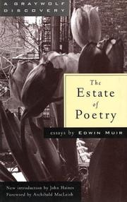 The estate of poetry by Edwin Muir