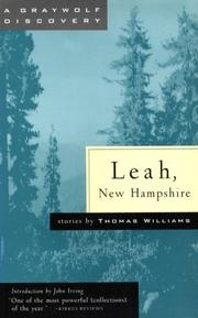 Cover of: Leah, New Hampshire | Thomas Williams