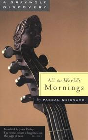 Cover of: All the world's mornings