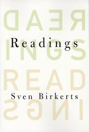 Cover of: Readings | Sven Birkerts