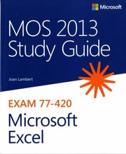 Cover of: MOS 2013 Study Guide for Microsoft Excel