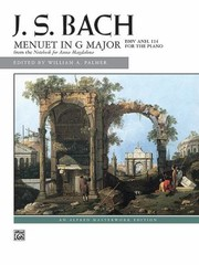 Cover of: Menuet in G Major Bwv Anh 114