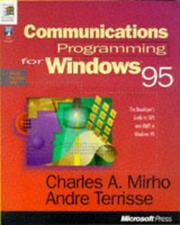 Cover of: Communications programming for Windows 95