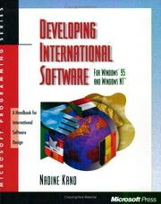 Cover of: Developing international software for Windows 95 and Windows NT