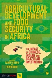 Cover of: Agricultural Development And Food Security In Africa