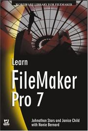Cover of: Learn FileMaker Pro 7 (Wordware Library for FileMaker) | Jonathan Stars