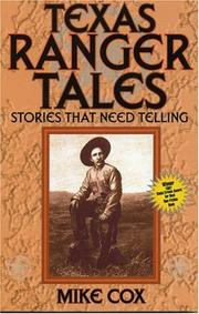 Cover of: Texas Ranger tales: stories that need telling