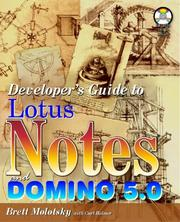 Cover of: Developer's guide to Lotus Notes and Domino R5