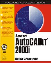 Cover of: Learn AutoCAD LT 2001 (Wordare Autocad Lt Library)