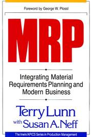 Cover of: MRP | Terry Lunn