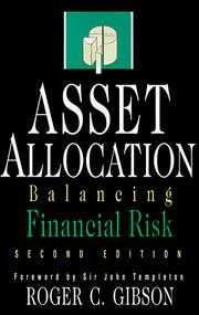 Asset allocation by Roger C. Gibson