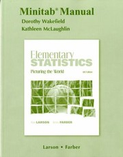 Cover of: Minitab Manual for Elementary Statistics