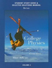 Cover of: Student Study Guide  Selected Solutions Manual for College Physics Volume 2