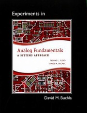Cover of: Lab Manual For Analog Fundamentals A Systems Approach