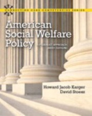 Cover of: American Social Welfare Policy Mysearchlab With Etext A Pluralist Approach