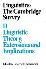 Cover of: Linguistics The Cambridge Survey Volume 2 Linguistic Theory