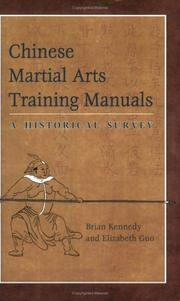 Cover of: Chinese martial arts training manuals