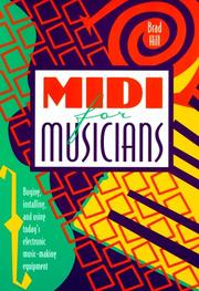 Cover of: Midi for musicians