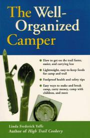 Cover of: The well-organized camper | Linda Frederick Yaffe
