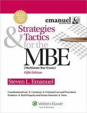 Cover of: Strategies  Tactics for the MBE 5th Edition