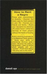Cover of: How to rent a Negro | Damali Ayo