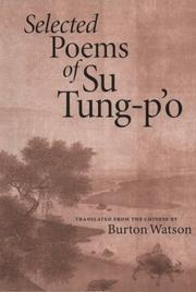 Cover of: Selected poems of Su Tung-pʻo | Su, Shi