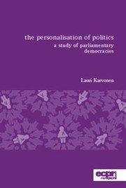 Cover of: The Personalisation of Politics