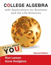 Cover of: College Algebra With Applications For Business And The Life Sciences