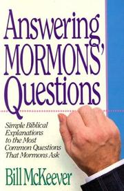 Cover of: Answering Mormons' questions