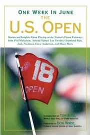 Cover of: One Week in June The US Open