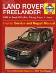 Cover of: Land Rover Freelander Petrol and Diesel