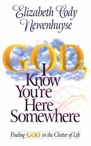 Cover of: God, I know you