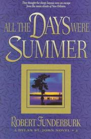 Cover of: All the days were summer