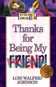 Cover of: Thanks for being my friend