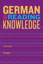 Cover of: Jannachs German for Reading Knowledge  7th Edition
