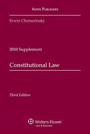 Cover of: Constitutional Law 2010 Supplement