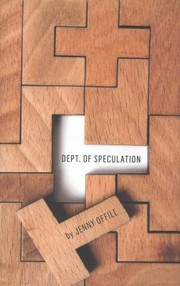 Cover of: Dept of Speculation
