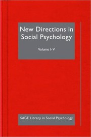 Cover of: New Directions in Social Psychology